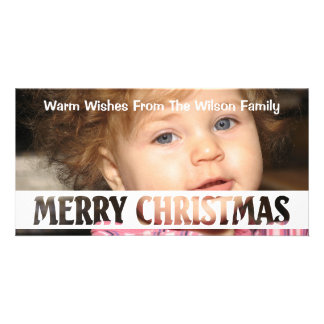 Merry Christmas Cut Out Text Card