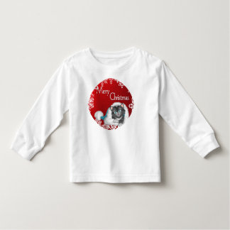 Merry Christmas Cute Kitty Toddler Long Sleeve T-S Toddler T-shirt