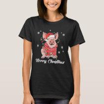 Merry Christmas Cute Pig Christmas Tshirt Funny