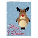 Merry Christmas Cute Reindeer Card