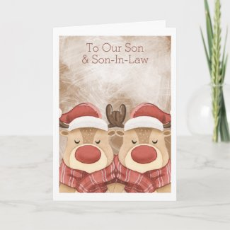 Merry Christmas Cute Reindeer Personalized Card