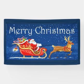 Merry Christmas Cute Santa Claus Cartoon Banner