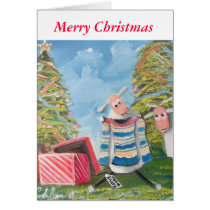 Merry Christmas cute sheep Card