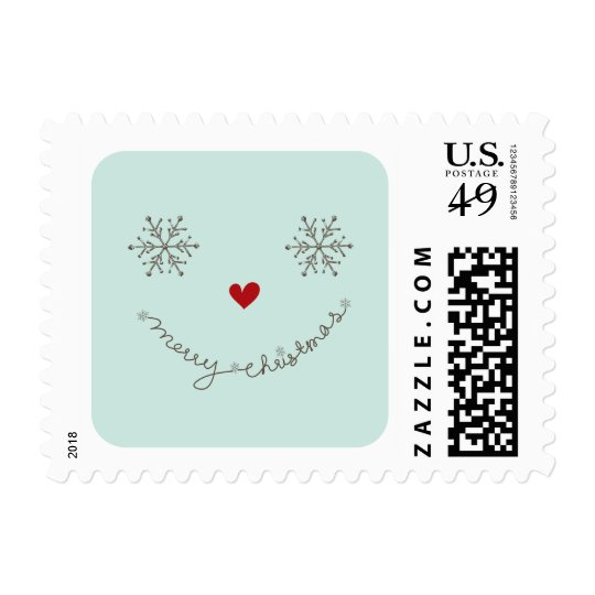 Merry Christmas Cute Smiley Holiday Stamps