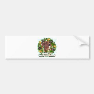 Merry Christmas Dachshund Bumper Sticker