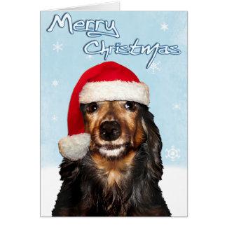 Merry Christmas Dachshund Card