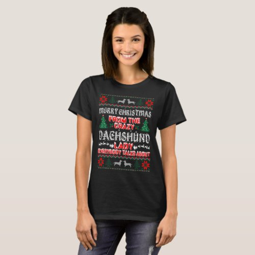 Merry Christmas Dachshund Dog Lady Ugly Sweater After Christmas Sales 5142