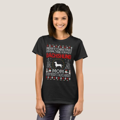 Merry Christmas Dachshund Dog Mom Ugly Sweater After Christmas Sales 5580