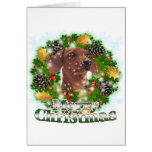 Merry Christmas Dachshund Greeting Card