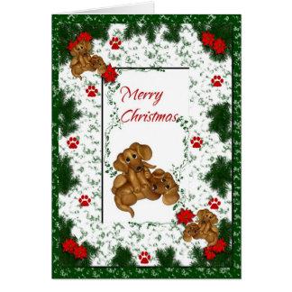 Merry Christmas Dachshund Holiday Card