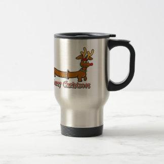 Merry Christmas Dachshund Coffee Mug