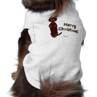 Merry Christmas Dachshund Sidney Pet Sweater Tee