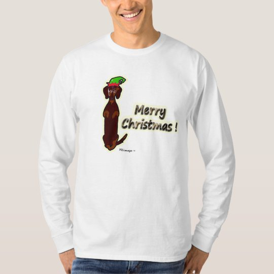 Merry Christmas Dachshund Sidney T-Shirt