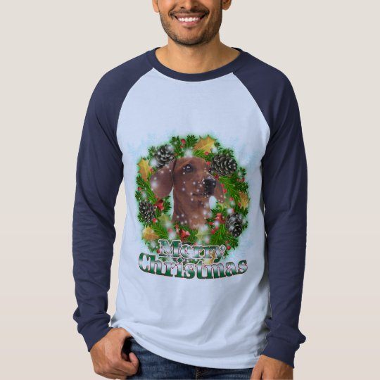 Merry Christmas Dachshund T-Shirt