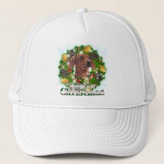 Merry Christmas Dachshund Trucker Hat