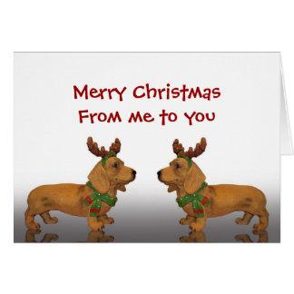 Merry Christmas Dachshunds Card