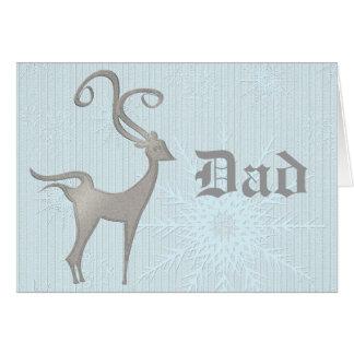 Merry Christmas Dad Deer Card Man