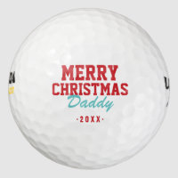 Merry Christmas Daddy Golf Balls