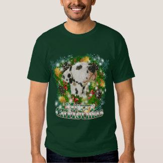 Merry Christmas Dalmation Tee Shirt