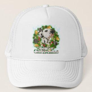 Merry Christmas Dalmation Trucker Hat