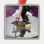 Merry Christmas Dancers Christmas Tree Ornament