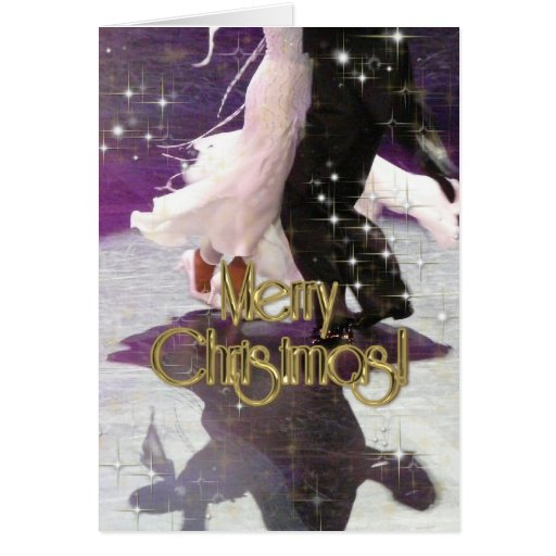 Merry Christmas Dancers PERSONALIZED Greeting Cards