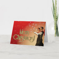 Merry Christmas Dancers PERSONALIZED Holiday Card