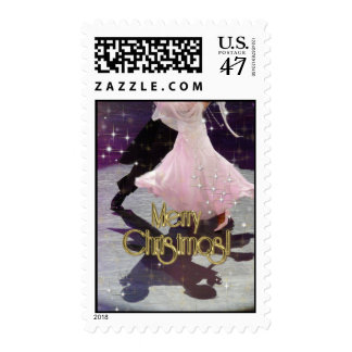 Merry Christmas Dancers Postage