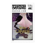 Merry Christmas Dancers Postage Stamps
