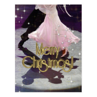 Merry Christmas Dancers Postcard