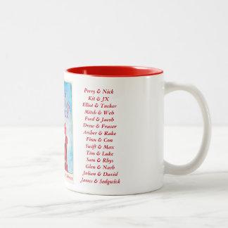 Merry Christmas, Darling mug with couples names