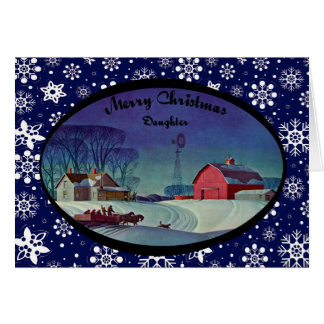 Merry Christmas Daughter Cards