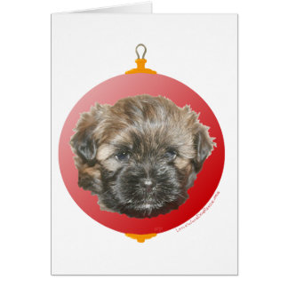 Merry Christmas Dear Little Rescued Dog Card