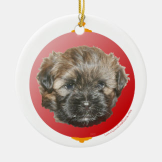 Merry Christmas Dear Little Rescued Dog Ceramic Ornament