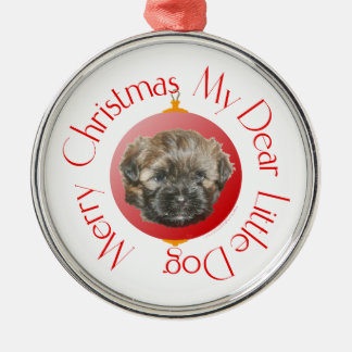 Merry Christmas Dear Little Rescued Dog Metal Ornament
