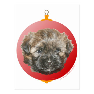 Merry Christmas Dear Little Rescued Dog Postcard