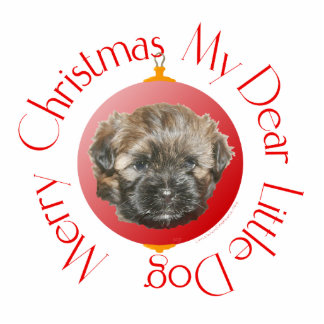 Merry Christmas Dear Little Rescued Dog Statuette