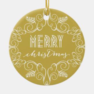 Merry Christmas Deco Frame Holiday Photo Ornament