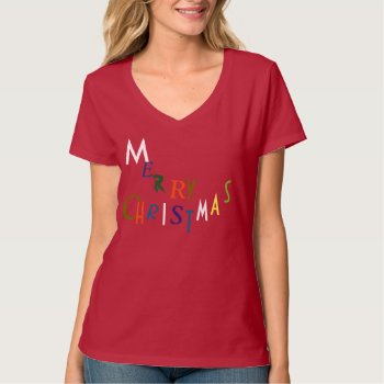 Merry Christmas Decor Tee Shirt by creativeconceptss at Zazzle