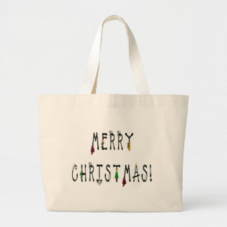 Merry Christmas Decoration Font Bags