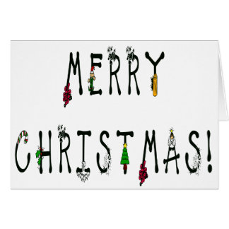 Merry Christmas Decoration Font Card