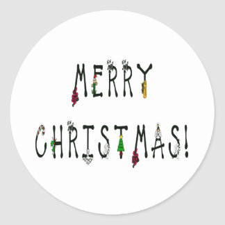Merry Christmas Decoration Font Stickers