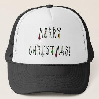 Merry Christmas Decoration Font Trucker Hat