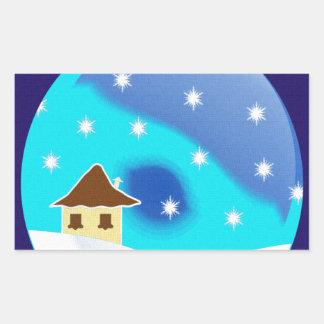 Merry Christmas- Decorations! Rectangular Sticker