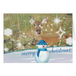 Merry Christmas Deer Christmas Card