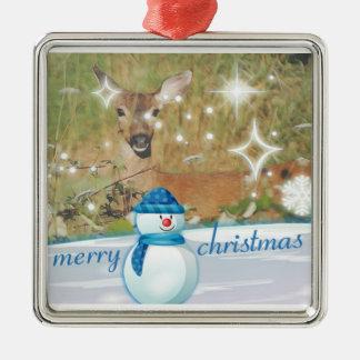 Merry Christmas Deer Christmas Ornament