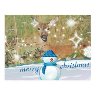 Merry Christmas Deer Christmas Postcard
