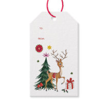Merry Christmas | Deer & Tree | Gift Tags