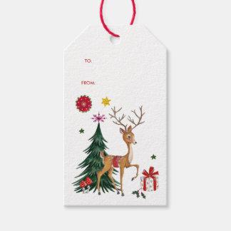 Merry Christmas   Deer & Tree   Gift Tags