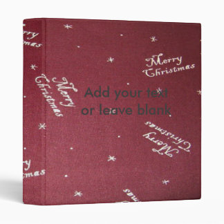 Merry Christmas Design Avery Binder 1 EZD Touch